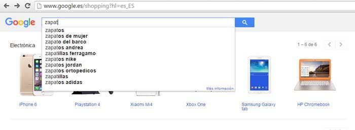 Sugeridor de Google Shopping