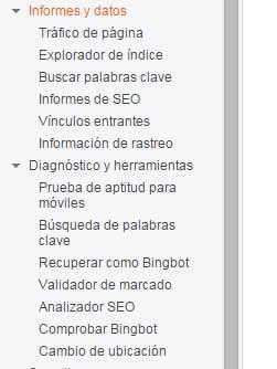herramientas bing webmaster tools
