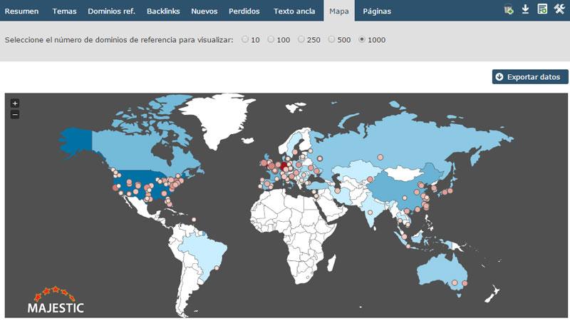 mapa dominios majestic