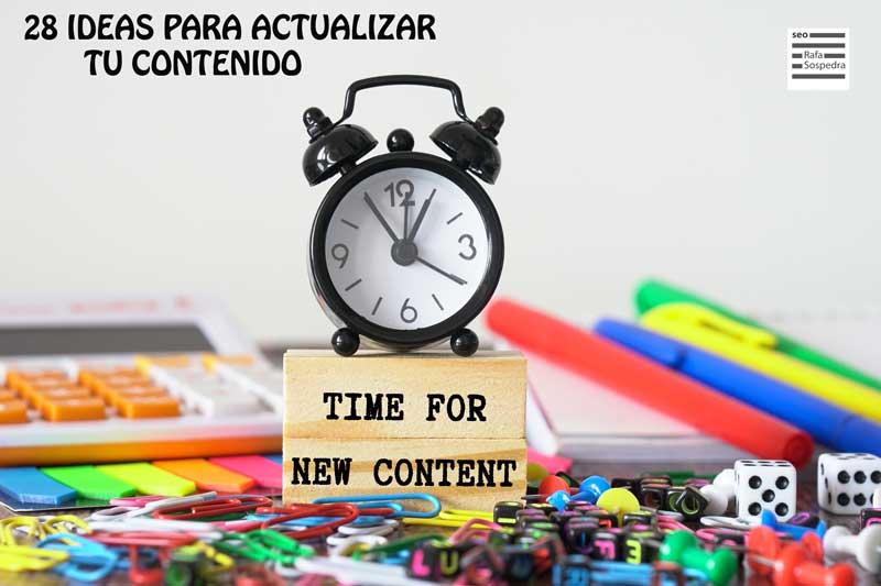 actualizaciones de contenido
