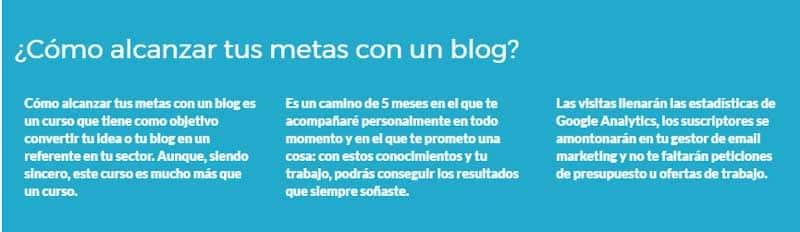 alcanzar tus metas con un Blog