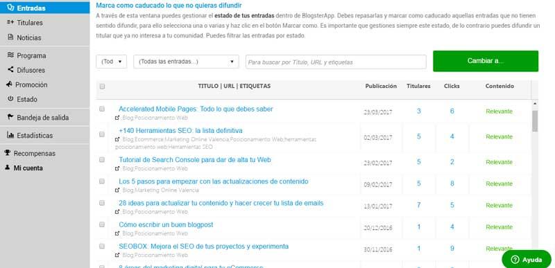Sistema de índice del contenido de tu blog