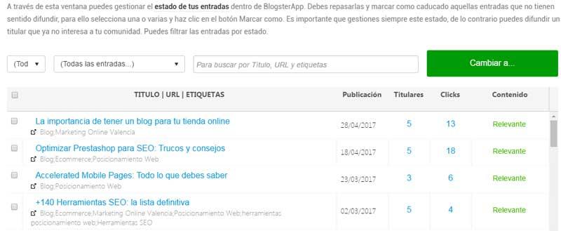 Revivir contenido de tu blog