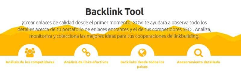 backlink Tool de XOVI
