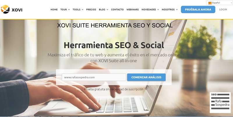 Xovi Suite Herramienta Seo y Social