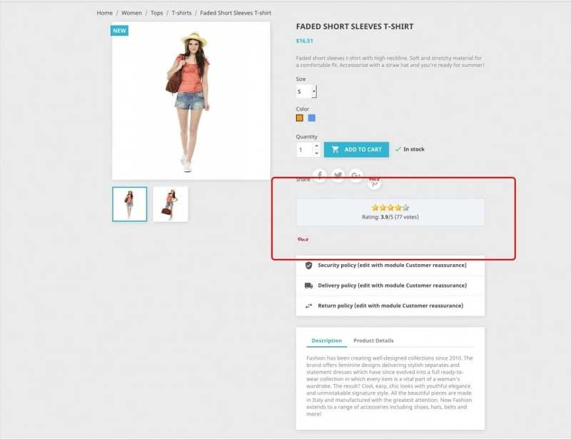 Módulo Prestashop de Rating y Rich Snippets