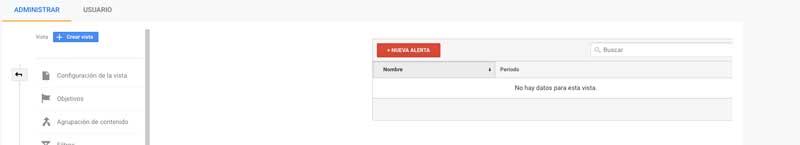 crear alertas personalizadas en Analytics