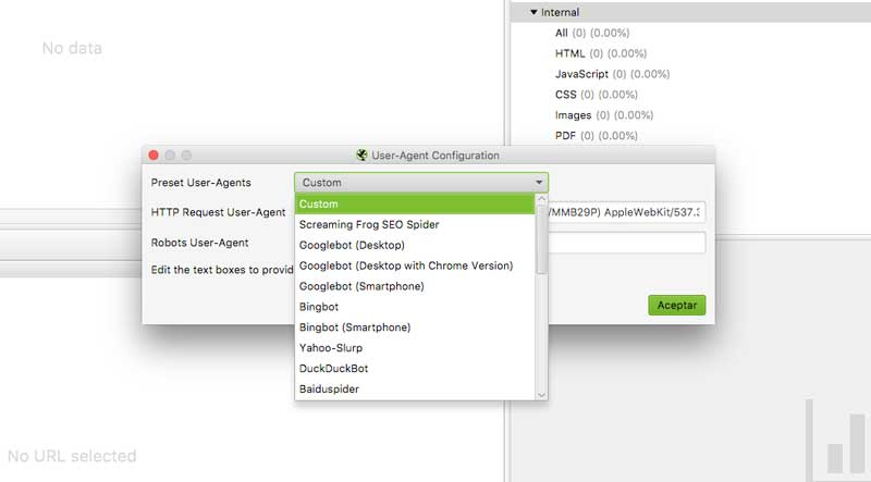 agente de usuario screamingfrog